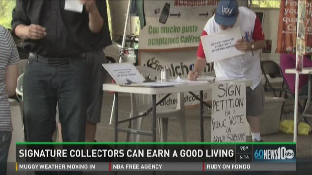 Better Jobs: Signature collectors can earn a good living