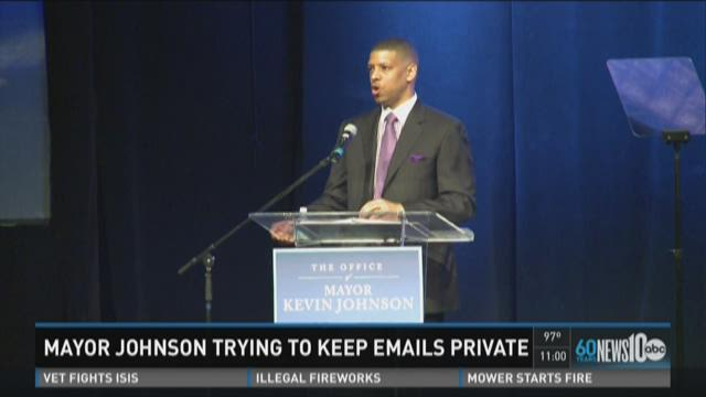 Mayor Johnson trying to keep emails private