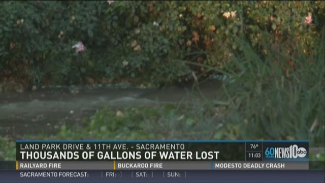 Thousands of gallons of water lost in Land Park