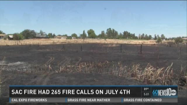 Sac fire had 265 fire calls on July 4