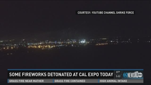 Some fireworks detonated at Cal Expo