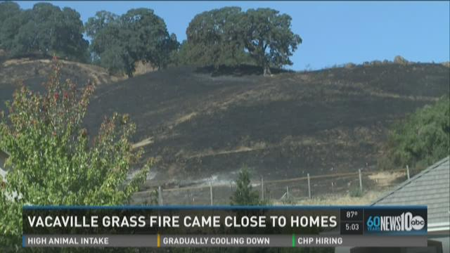 Vacaville grass fire came close to homes