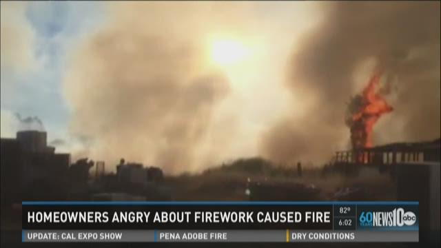 Homeowners angry about fireworks causing fires