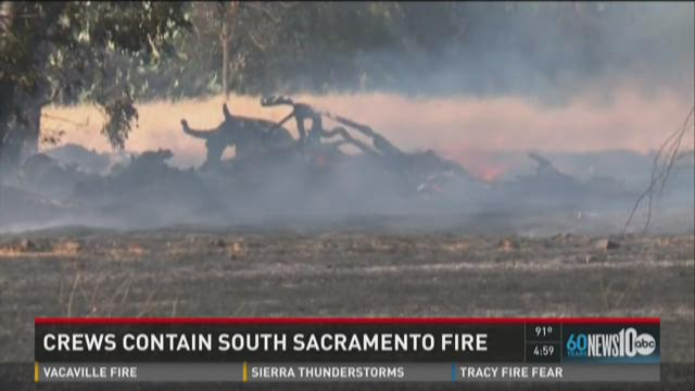 Crews contain South Sacramento fire