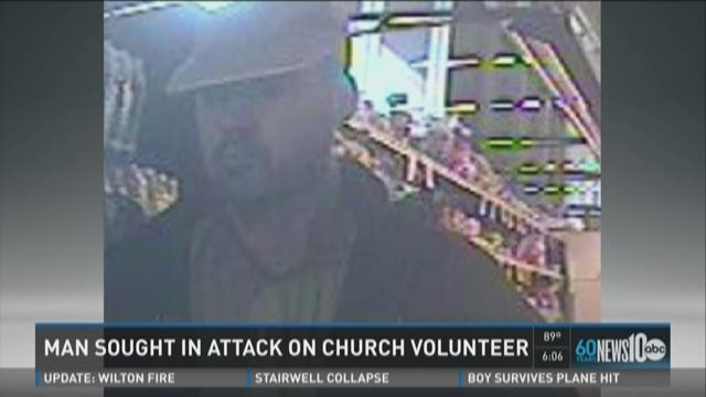 Man sought in attack on church volunteer