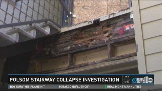 Folsom stairway collapse under investigation
