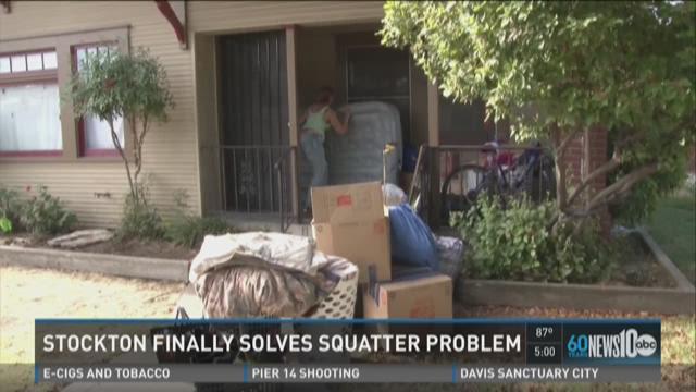 Stockton finally solves squatter problem