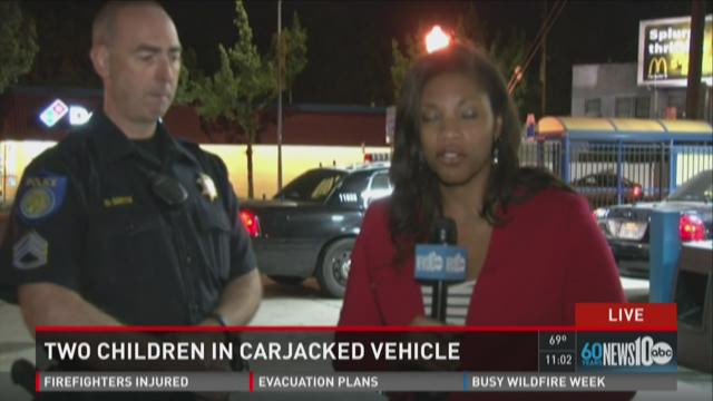 Two children found in possible carjacking