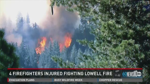 4 firefighters injured while fighting Lowell Fire