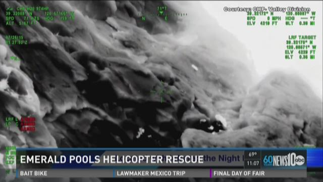 Hiker rescued at Emerald Pools