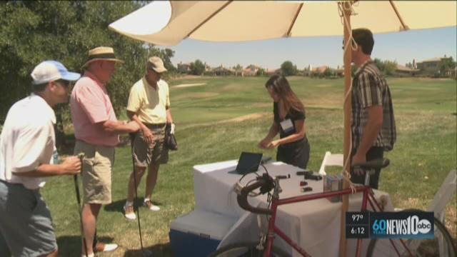 Startups make pitches to investor on golf course