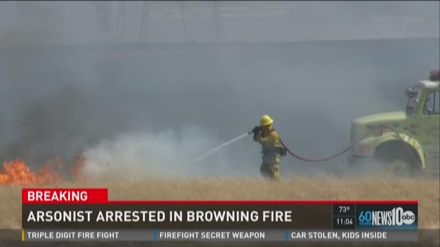 Arsonist arrested in Browning Fire