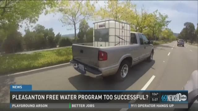 Pleasanton free water program too successful?