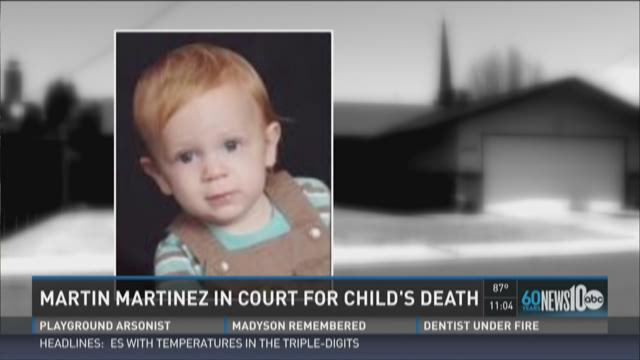 Martin Martinez in court for child's death