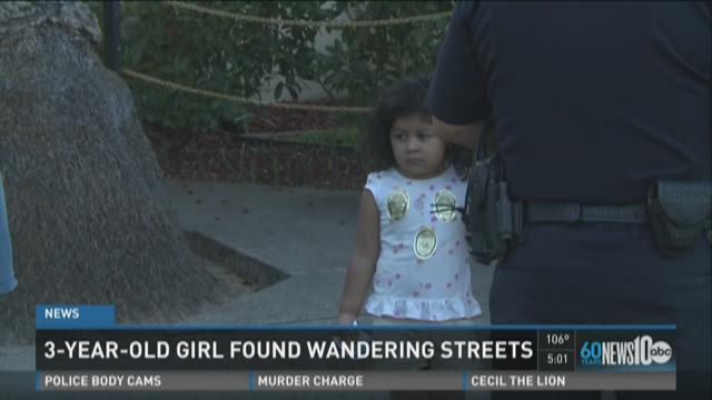3-year-old girl found wondering streets
