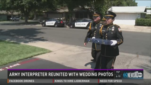 Army interpreter reunited with wedding photos