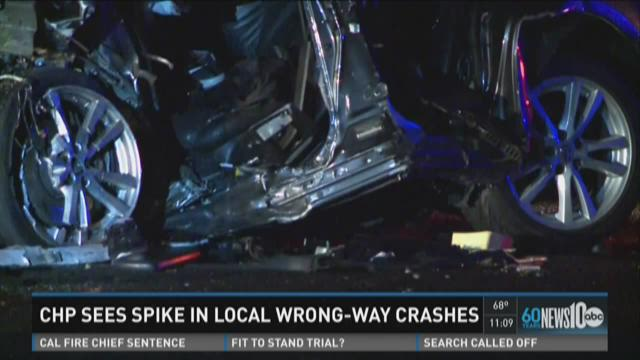 CHP sees spike in local wrong-way crashes