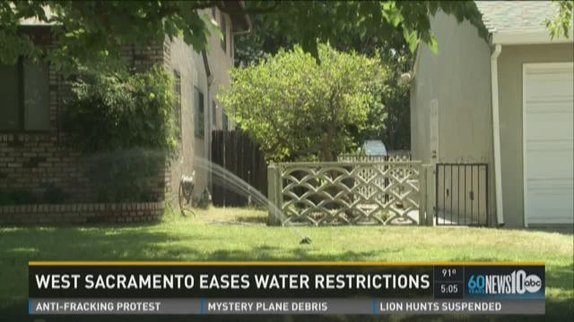 West Sacramento eases water restrictions