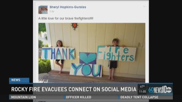 Rocky Fire evacuees connect on social media