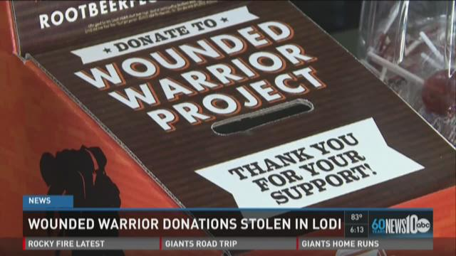 Wounded Warrior donations stolen from Lodi restaurant