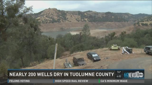 Nearly 200 wells have gone dry in Tuolumne County
