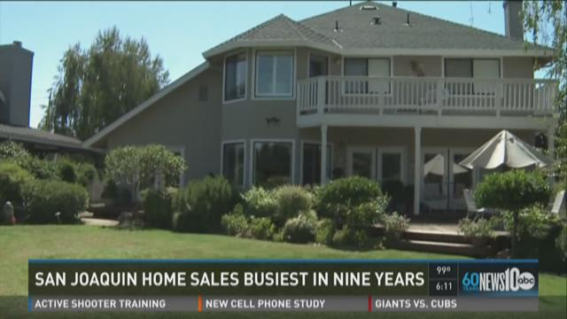 San Joaquin home sales busiest in 9 years
