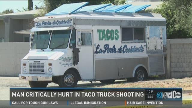 Man injured in taco truck shooting