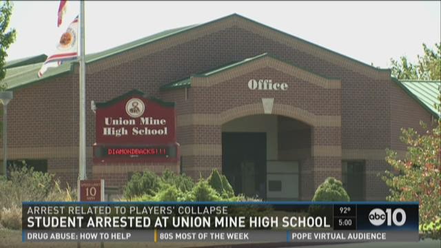 Student arrested at Union Mine High School