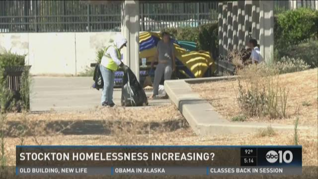 Is Stockton homelessness increasing?