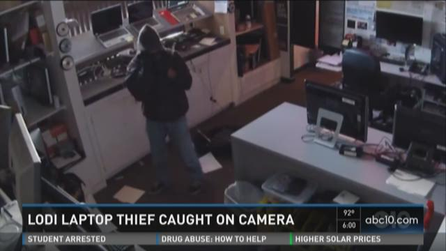 Lodi laptop thief caught on camera