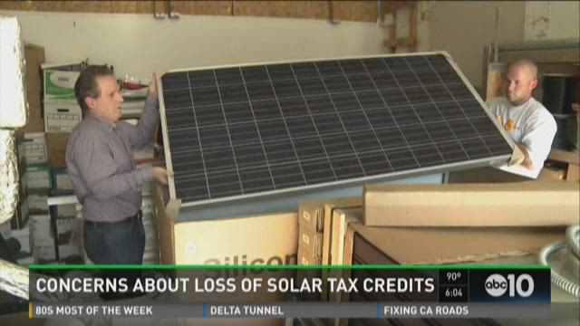 Solar panel industry concerned about loss of tax credits