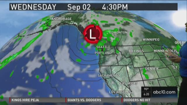 Sacramento area evening weather forecast update for Monday, Aug. 31, 2015