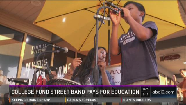 College Fund Street Band pays for education