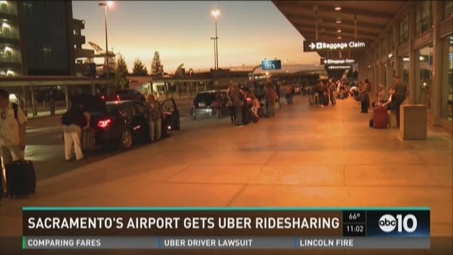 Sacramento airport gets Uber ridesharing