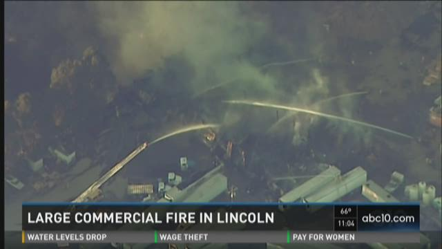 Large commercial fire in Lincoln