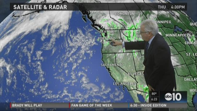 Sacramento area evening weather forecast for Thursday, Sept. 3, 2015
