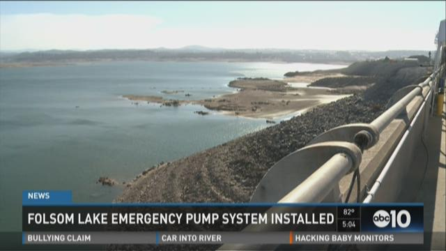 Folsom Lake emergency pump system installed