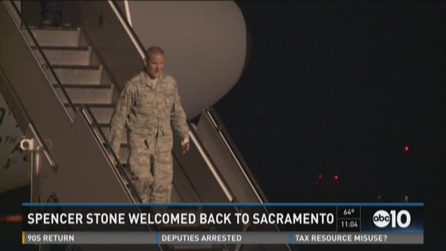 Spencer Stone welcomed back to Sacramento