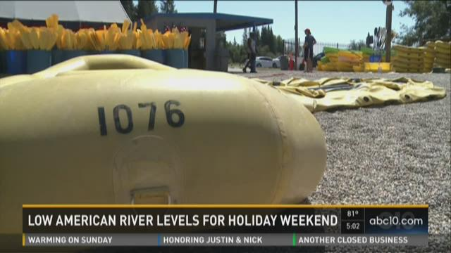 Low American River levels for holiday weekend