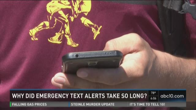 Why did emergency text alerts take so long?