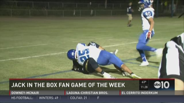 Jack in the Fan Game of the Week for Week1: Atwater at Central Catholic