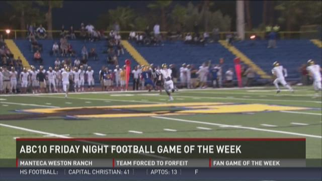ABC10 Friday night football game of the week