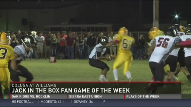 Jack in the Box Fan Game of the Week: Colusa at Williams