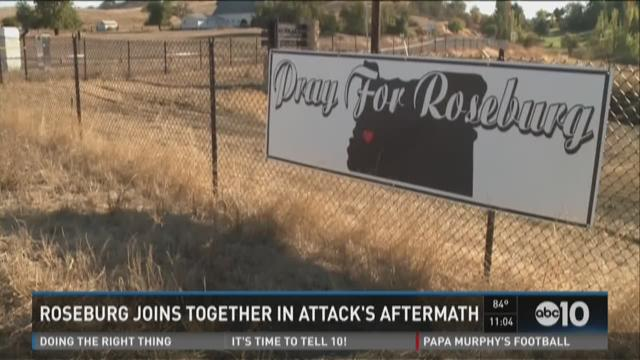 Roseburg joins together in attack's aftermath