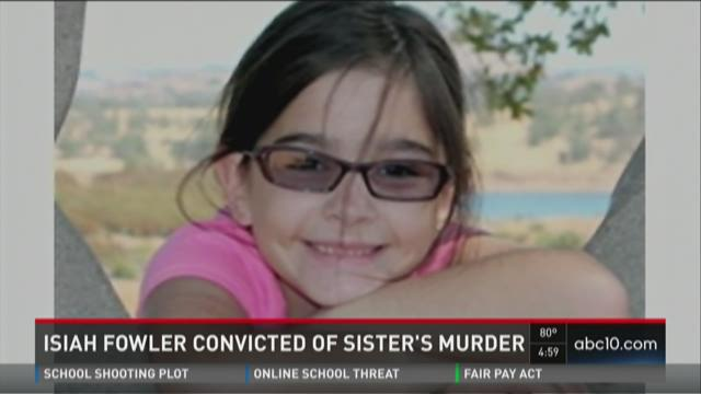 Isiah Fowler convicted of sister's murder