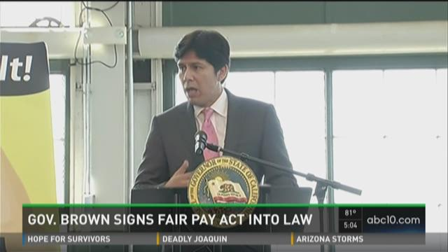 Gov. Brown signs Fair Pay Act into law
