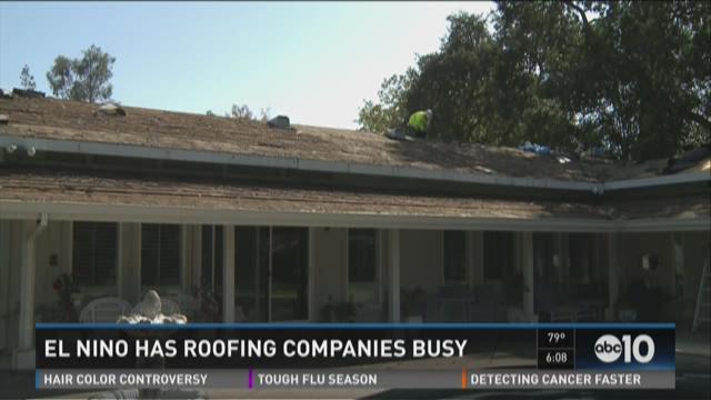El Nino has roofing companies busy