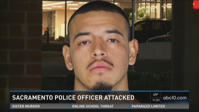 Sacramento police officer attacked