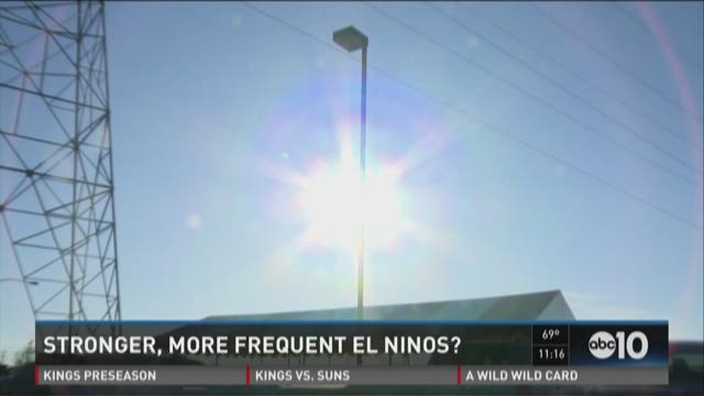 Stronger, more frequent El Nino's?