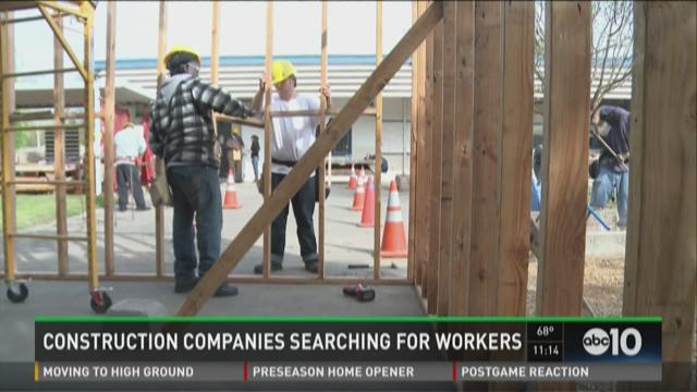 Construction companies searching for workers